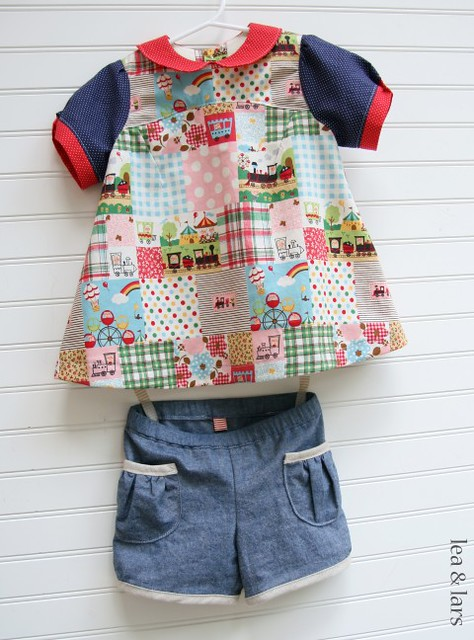 Oliver + S puppet show tunic & shorts