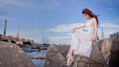 [フリー画像素材] 人物, 女性 - アジア, 女性 - 座る, 台湾人, ワンピース・ドレス ID:201208071400