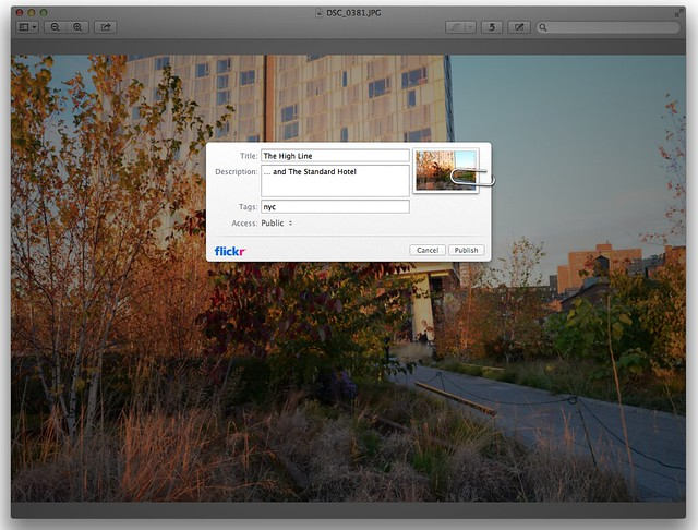 Flickr Sharing in OS X Mountain Lion