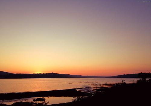 sunset canada landscape scenery