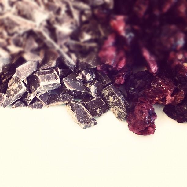 Chocolate + mirtilos