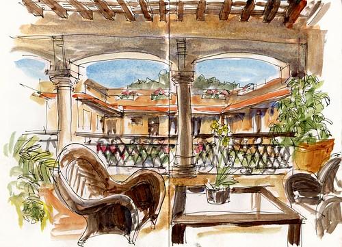 D02_Sat07_06 Hotel Frances Courtyard