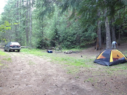 Camp site at Diamond lake