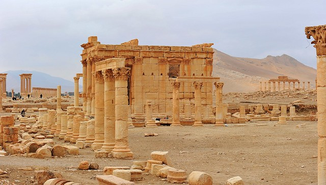 The temple of Baalshamin in Palmyra (Syria) before its destruction in August 2015 346