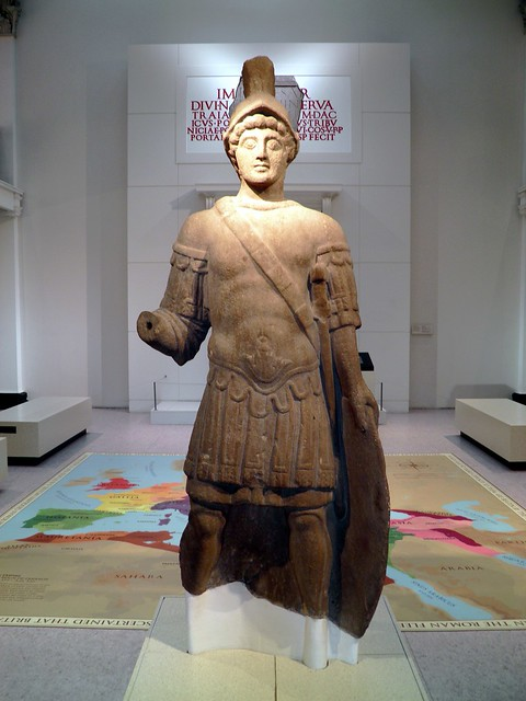 Roman statue of the god Mars,  Found in Blossom Street York and dates from the early 4th century, Yorkshire Museum, York (Eboracum)