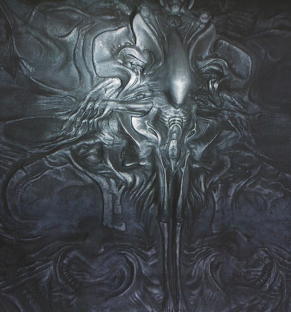 prometheus crucified xenomorph mural flickr photo sharing