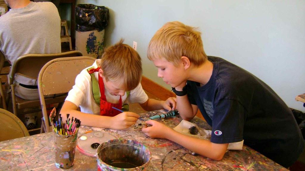 boys painting