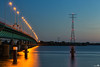 Haringvlietbridge at blue hour