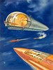 Satellite Space Ship Station, Amazing Stories back cover, May 1946 by James B. Settles