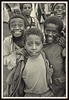 Ethiopian boys mug for the camera, 1985