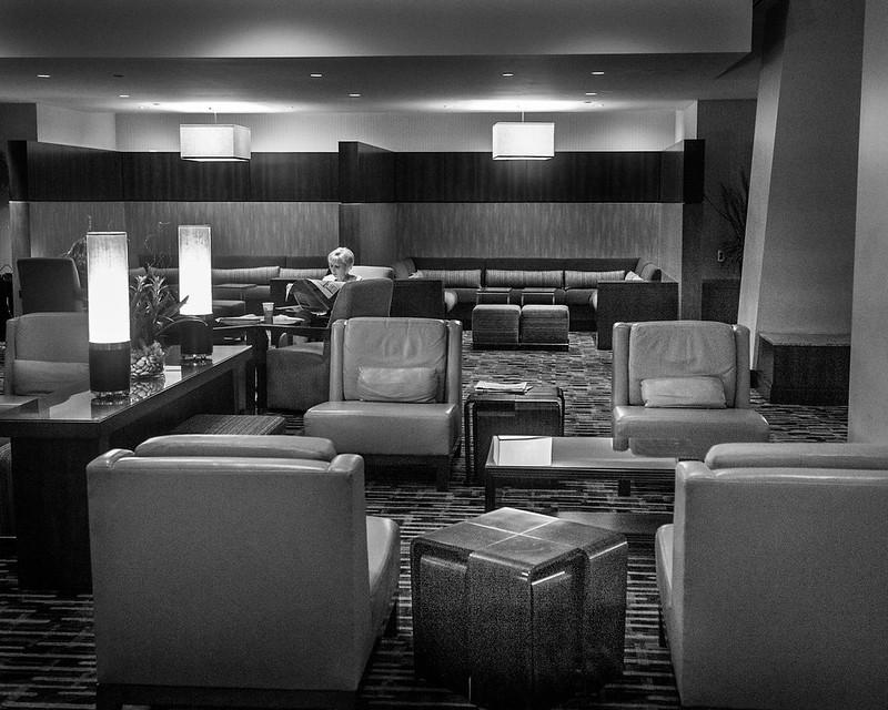 Hotel Lobby B&W