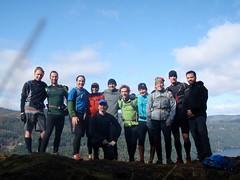 MEC gang running Gowlland Tod