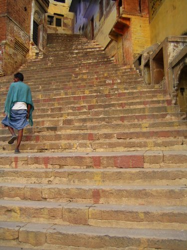 Jeffrey Becom, Steps from the Ganges, Varanasi, Uttar Pradesh, India, 2008