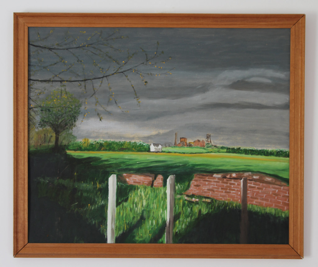 Spring evening after rain, Bedford Colliery, 1963