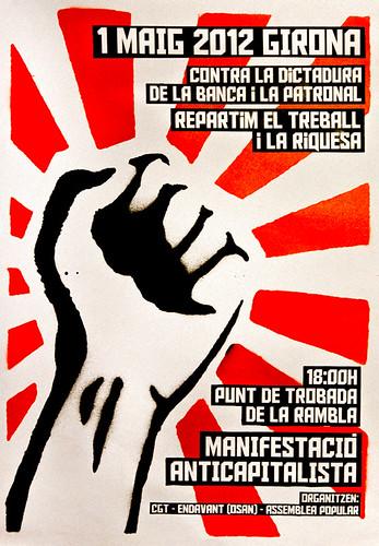 1r Maig Girona Manifestació Anticapitalista Unitaria