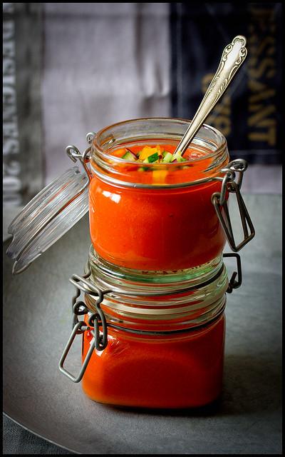 Gazpacho andaluz mit Tabasco
