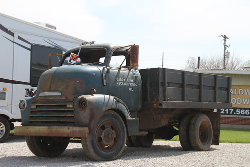 Williamsville Illinois, Rt 66, Cab Over, Chevy Truck, Sangamon County IL