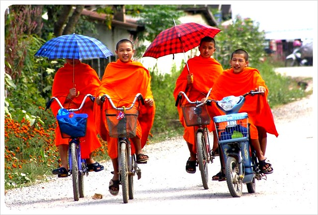 Buddhist monks in South East Asia