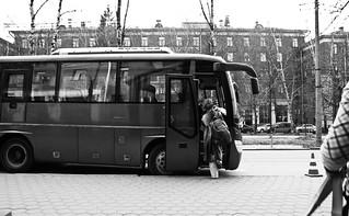 Notre petit bus pour la semaine à Moscou