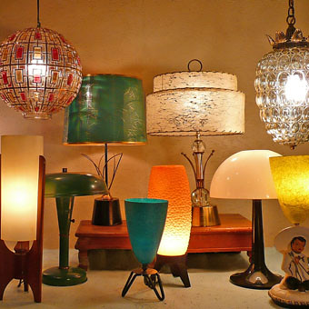Mid Mod Atomic Lamps At Lise Vintage Lighting Flickr
