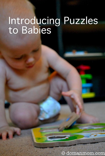 Introducing puzzles to babies