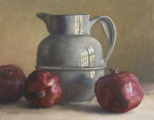 Still Life with Pitcher and Pomegranates