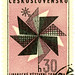 Czechoslovakia postage stamp: modern fashion