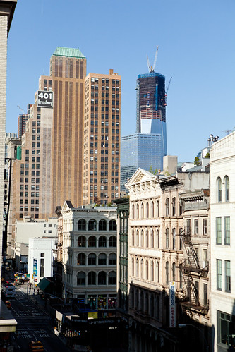 A view down (south) of Broadway from The International Culinary Center