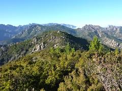 La crête d'Alzu di Lanu et son paysage