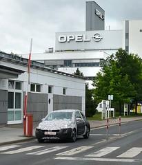 Prototyp Opel ADAM bei erster Ausfahrt in Eisenach
