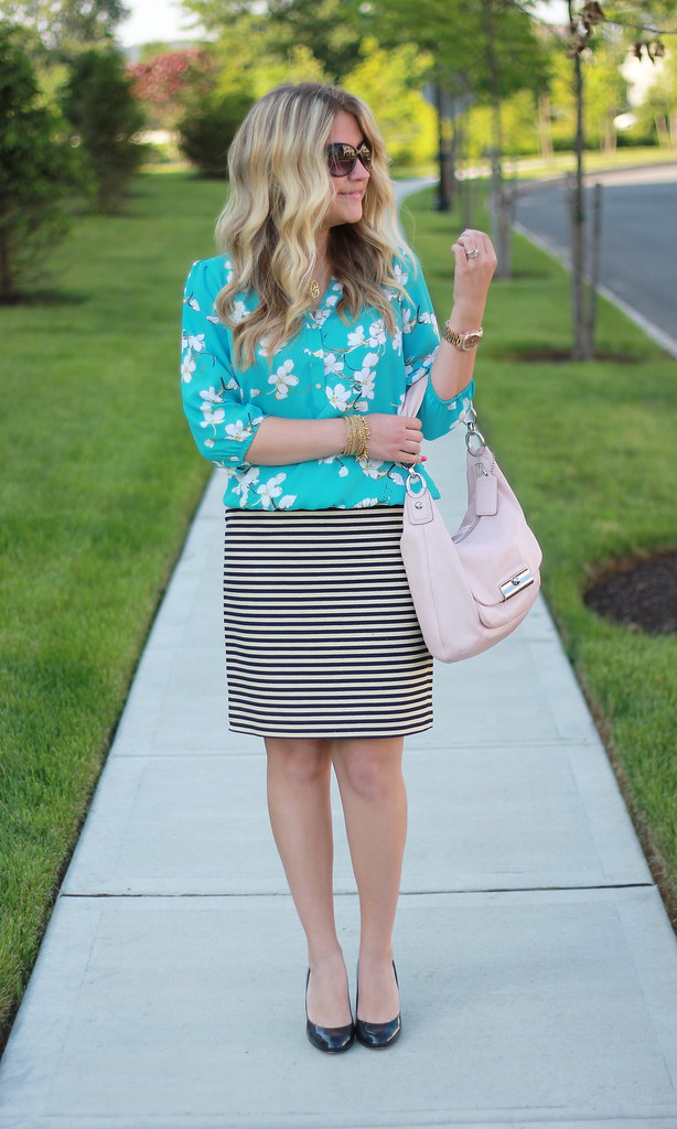 Pattern Play: Floral and Stripes