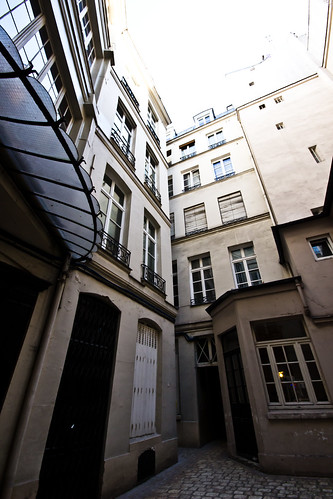 Courtyard behind Jean Nicot