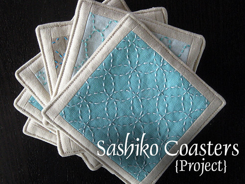 Sashiko coasters project