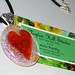 Fused glass dichroic heart