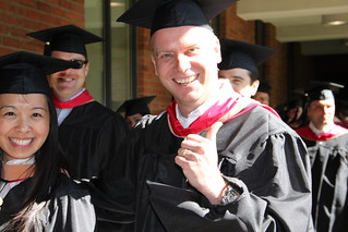 EMBA Graduate Gives the Thumbs Up