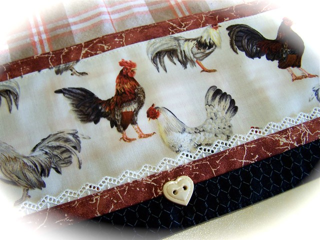Country Kitchen Fabric Roman Blinds