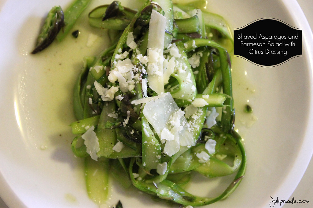 Julip Made: Shaved Asparagus and Parmesan Salad with Citrus Dressing