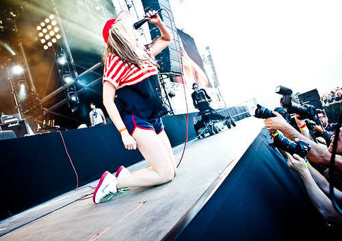 Pinkpop 2012 mashup foto - In the navy!