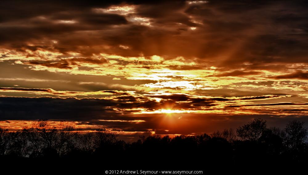 Day 11 - 120417 sunset Shamona Creek es hdr 10 efex