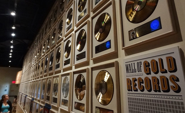 wall-of-gold-records - is the country music hall of fame worth it