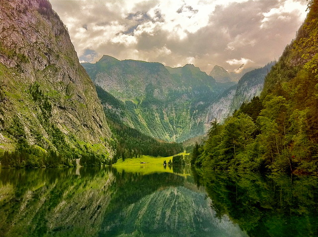 Lake Obersee in the Berchtesgaden National Park