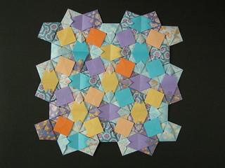 Cordovan pentagon quilt (opus XLV), reverse