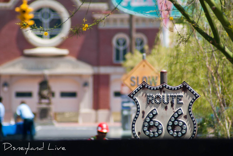 Cars Land Construction - Route 66 Sign