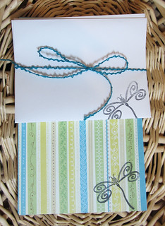 Dragonfly stationery set