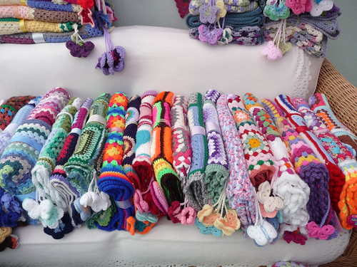 These Blankets have been made and donated by the wonderful Ladies who support my project.