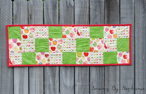 Back of Table runner