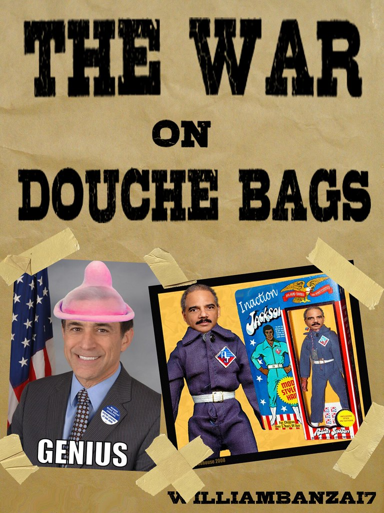 THE WAR ON DOUCHE BAGS