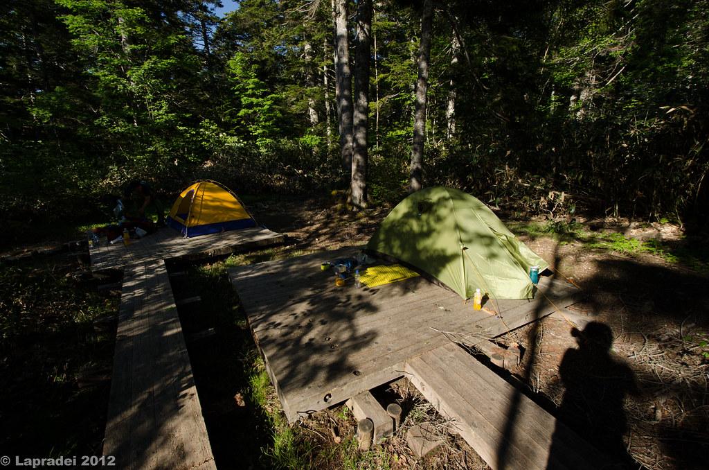 尾瀬沼のテントサイト