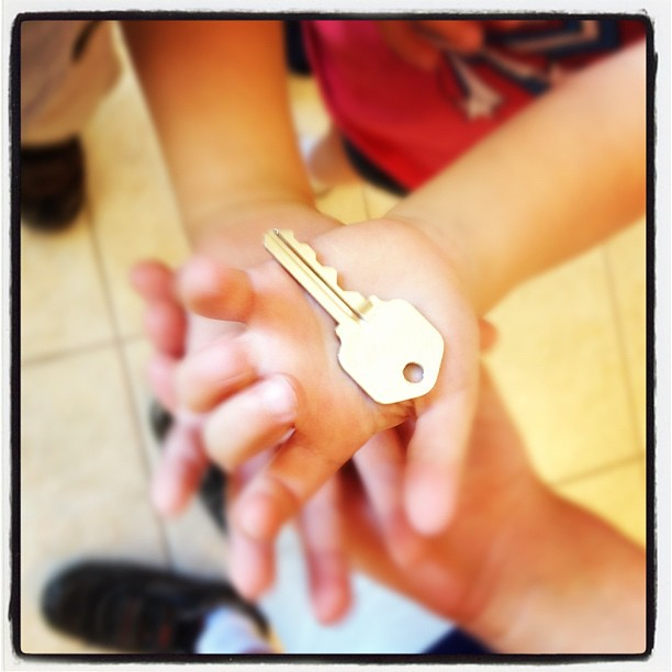 The key to our first house!