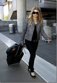 Fergie Tweed Jacket Celebrity Style Women's Fashion